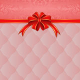 Pink background. With red ribbon for gifts Stock Photography