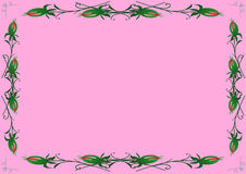 A pink background with rose buds Stock Image