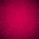 Pink background with rose and heart,  vector Royalty Free Stock Photos