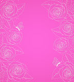 Pink  background with roses Stock Photography