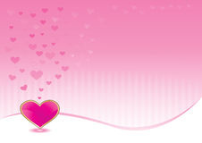 Pink background with shiny heart Royalty Free Stock Images