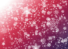 Pink background with snowflake Stock Images