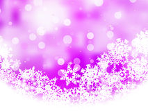 Pink background with snowflakes. EPS 8 Royalty Free Stock Photo