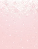 Pink background with snowflakes, vector Royalty Free Stock Images