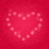 Pink Background with Sparkle Heart. Stock Photo