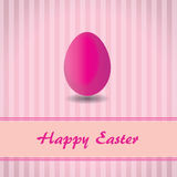 Pink background with stripes and pink easter egg vector illustration
