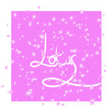 Pink background with stylization flower lotus Stock Photo