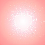 Pink background of transparent little hearts Royalty Free Stock Photo