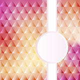 Of a pink background with triangles and circles for text Stock Images