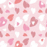 Pink  background with   valentine heart,  vector  Stock Image