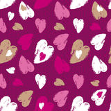 Pink  background with   valentine heart,  vector illustration.  Royalty Free Stock Images