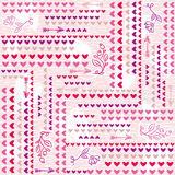 Pink  background with  valentine heart,  vector illustration. Royalty Free Stock Photography