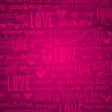 Pink background with  valentine hearts and text,  vector Stock Photography
