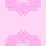 Pink background. Vector illustration. Arabic abstract floral pattern on pink background. Vector illustration Vector Illustration