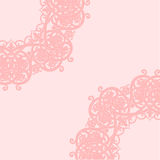 Pink background. Vector illustration. Arabic abstract floral pattern on pink background. Vector illustration Royalty Free Illustration