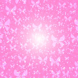 Pink background. Vector illustration - Pink background(butterfly royalty free illustration
