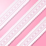 Pink background with vintage white lace. Royalty Free Stock Photos