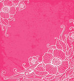 Pink background with white flowers Royalty Free Stock Image