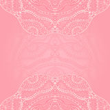 Pink background white lace Royalty Free Stock Photos