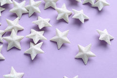 Pink background with white stars Royalty Free Stock Images
