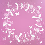 Pink background with a wreath Stock Photography