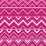 Pink background with zig zag lines and dots Royalty Free Stock Photography
