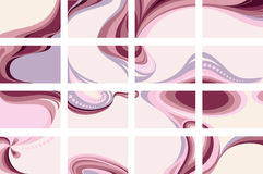 Pink  backgrounds. Pink end purple backgrounds set Royalty Free Stock Images