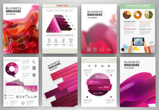 Pink backgrounds and abstract concept infographics and icons Stock Photos