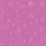 Pink Backgrounds doodle art. Funny for kids Royalty Free Stock Images