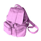 Pink backpack Stock Image