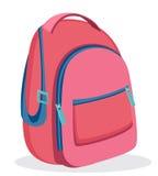 Pink backpack for school. Modern rucksack. Royalty Free Stock Image