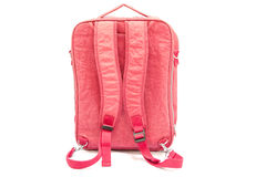 Pink backpack standing Royalty Free Stock Photography