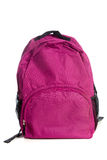 Pink Backpack on a white background Stock Photos
