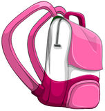 Pink backpack on white Stock Photography