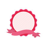 Pink badge love ribbon icon Royalty Free Stock Images