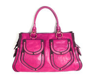 Pink bag. Isolated on white Stock Image