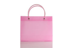 Pink bag. Isolated against the white background Stock Photo