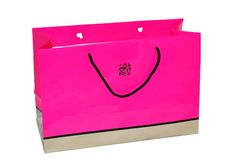 Pink bag Stock Images