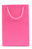 Pink bag. Pink shopping bag on white Stock Images