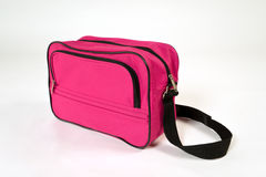 Pink bag. With black shoulder straps Royalty Free Stock Photography