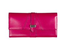 Pink bag is insulated on white Royalty Free Stock Image
