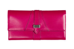 Pink bag is insulated on white background Royalty Free Stock Images