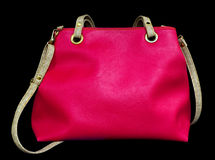 Pink Bag Isolated Stock Photo