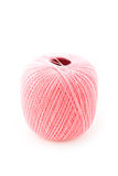 Pink ball. On the white Stock Photography