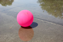 Pink ball - holiday remains Royalty Free Stock Photography