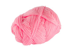 Pink ball of yarn Stock Images