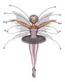 Pink Ballerina Fairy. Digital render of a pretty pink ballerina fairy off the top of the Christmas tree Royalty Free Stock Photos