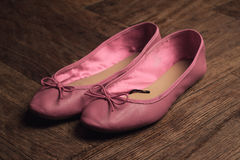 Pink ballerina shoes Stock Images