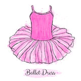 Pink Ballerina Tutu Dress. Performance Ballet Dance Dress. Stock Images
