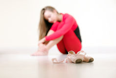 Pink ballet shoes Stock Photography